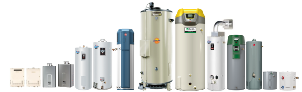 hot water heater brands that we repair and install