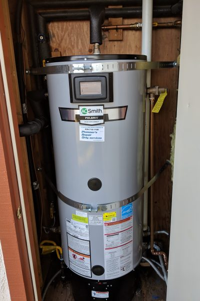 gas hot water heater installation
